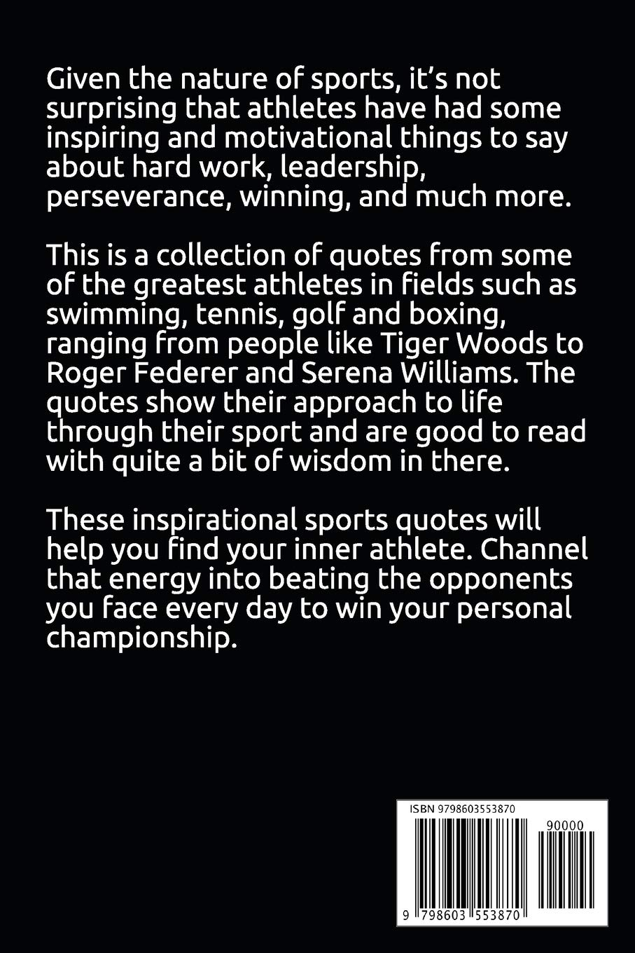 Best Sports Quotes Book Quotes From The Greatest Athletes And Sports Men Of All Time Sports And Athletic Quotes Winfrey Michelle 9798603553870 Amazon Com Books