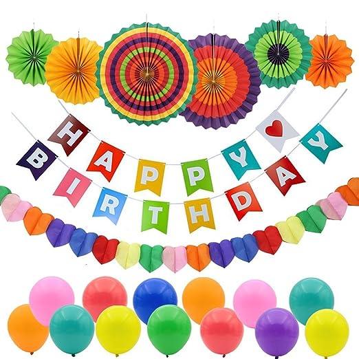 Feliz cumpleaños Decoraciones Suministros, Feliz cumpleaños ...