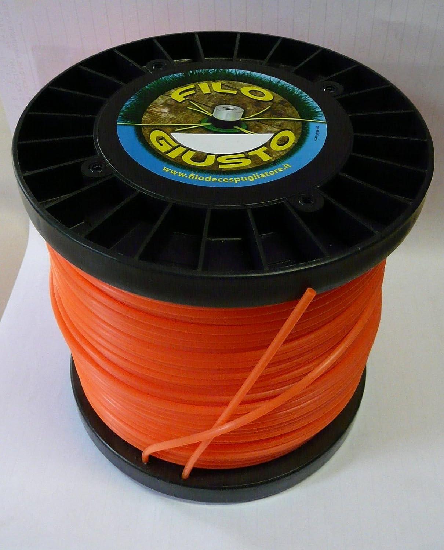 Hilo para desbrozadora redonda 3,3 mm bobina 2 kg: Amazon.es ...