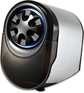 Bostitch Antimicrobial QuietSharp GlowExtra Heavy Duty Classroom Electric Pencil Sharpener with Replaceable Cutter Cartridge System, Silver/Black (EPS11HC)