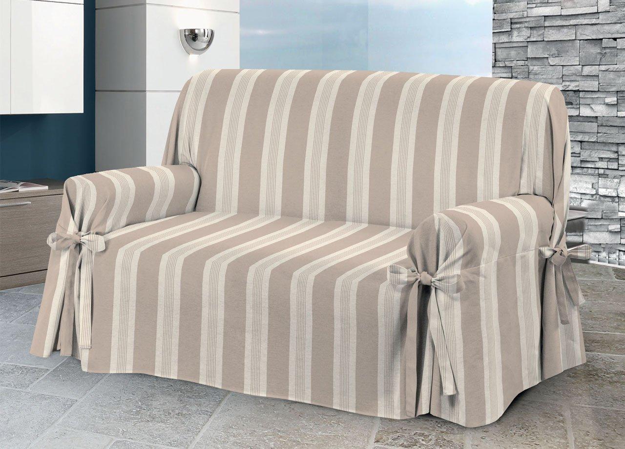 Sofa Cover with Ties, Grancasa Design, O.B. Model 2 Posti beige COINGROSTEX
