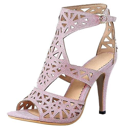 29e0497de060 Artfaerie Women's High Heels Cut Out D'Orsay Court Shoes Open Toe Ankle  Boots Summer Stiletto Sandals: Amazon.co.uk: Shoes & Bags