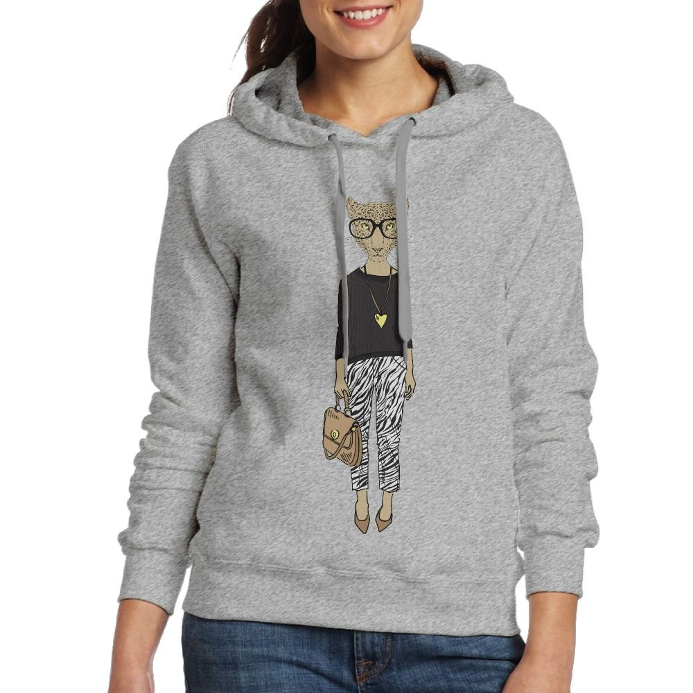 Fashion Leopard Girl Womens Hoodie Sweatshirt For Fall/Winter For Women