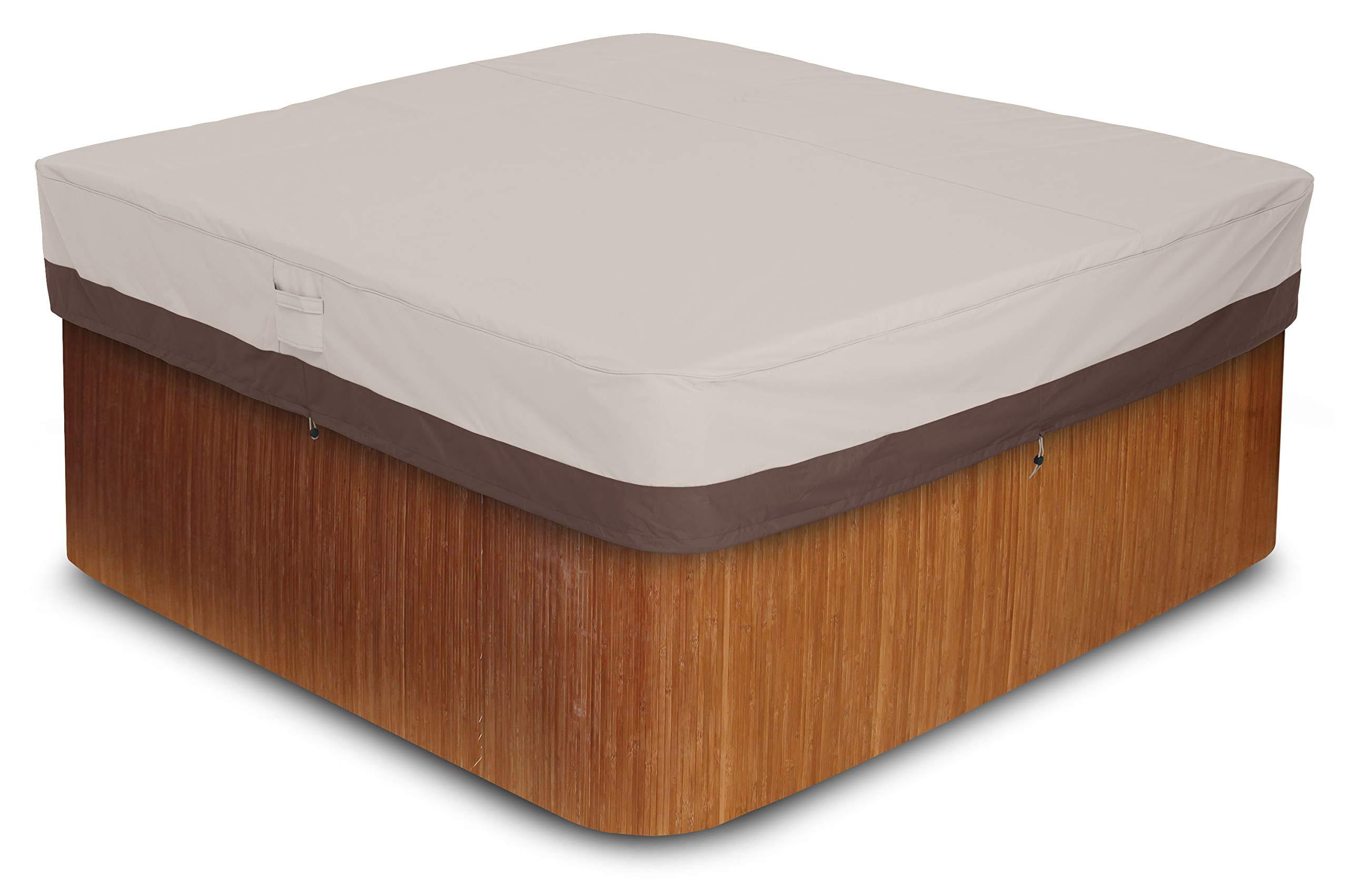 AmazonBasics Outdoor Square Hot Tub Cover, Medium