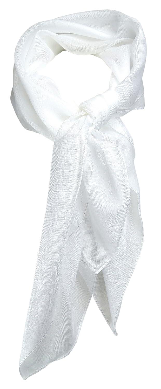 Gr/ö/ße 58 cm x 58 cm TigerTie Feines Damen Chiffon Nickituch in einfarbig Uni