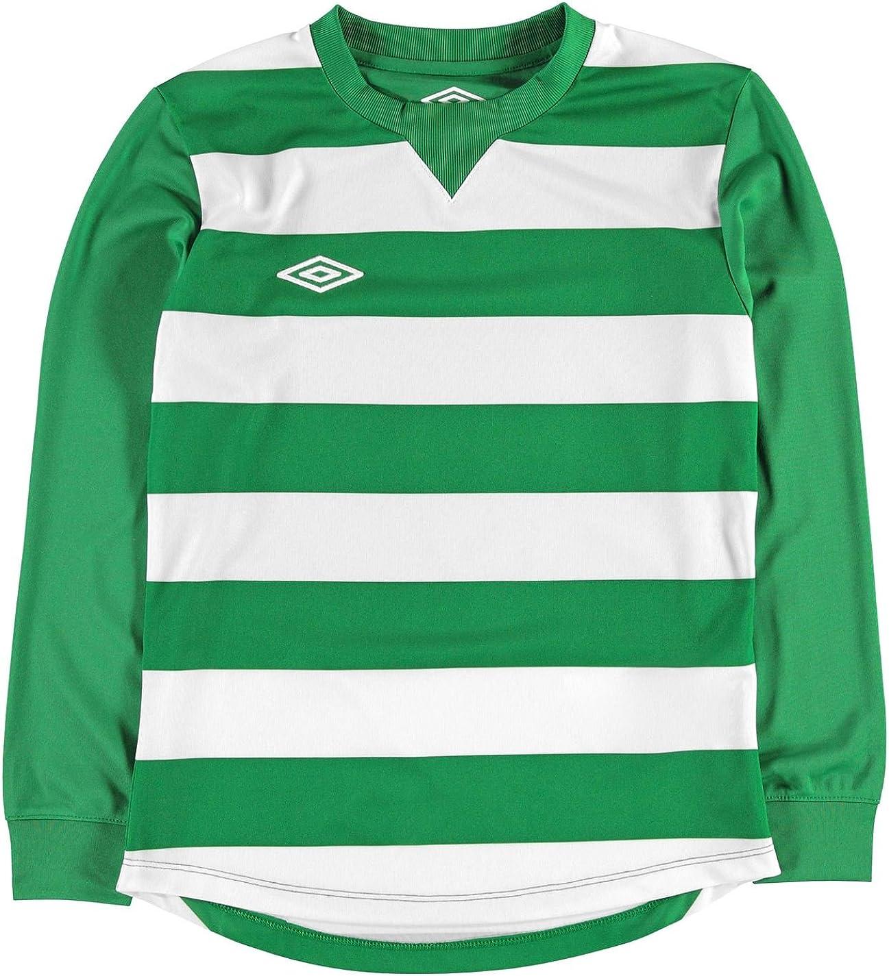 Umbro - Camisa Deportiva - Manga Larga - para niño Emerald ...