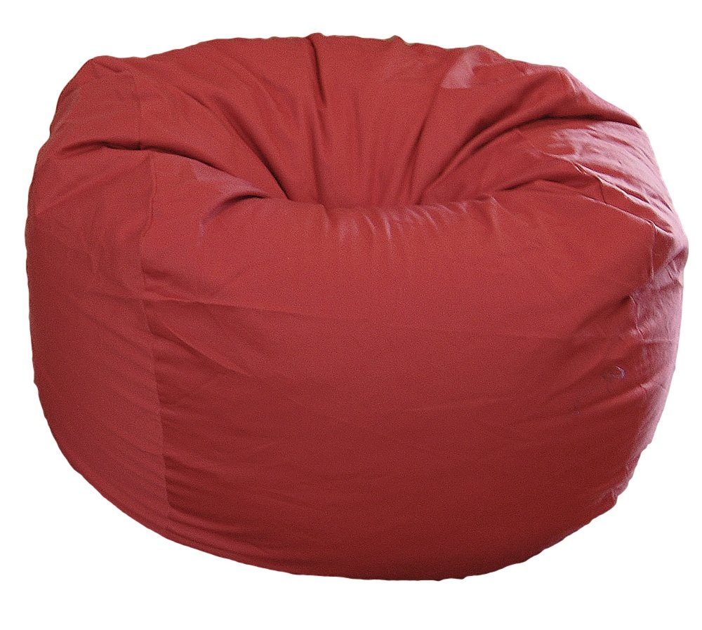 Ahh! Products Dark Red Organic Cotton Large Bean Bag Chair