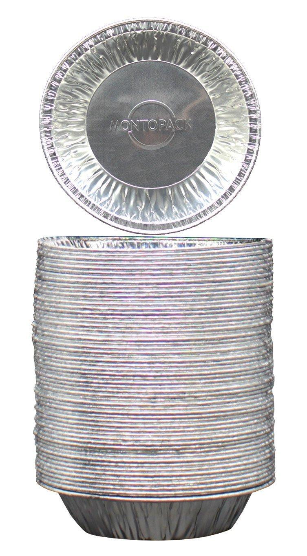 MontoPack Disposable 5 Aluminum Foil Tart/Pie Pans (50 Pack) P5P50C