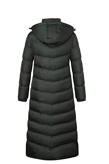 21b58f5bf41 Amazon.com  U2Wear Women s Maxi Plus-Size Water Resistant Puffer Full  Length Coat with Hood  Clothing