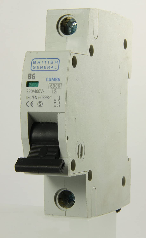 BG British General - CUMB6 - 6a Type B Single Pole MCB