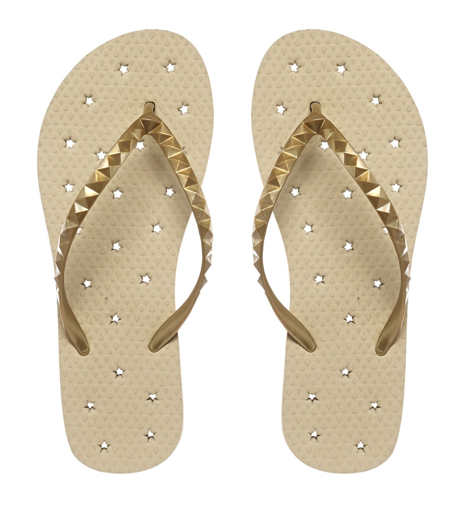 Showaflops Womens' Antimicrobial Shower & Water Sandals for Pool, Beach, Dorm and Gym - Golden Sand 9/10