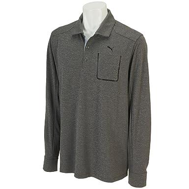 Puma Golf Lux Blend LS Polo Shirt Men Dry Cell Tech Longsleeve ...