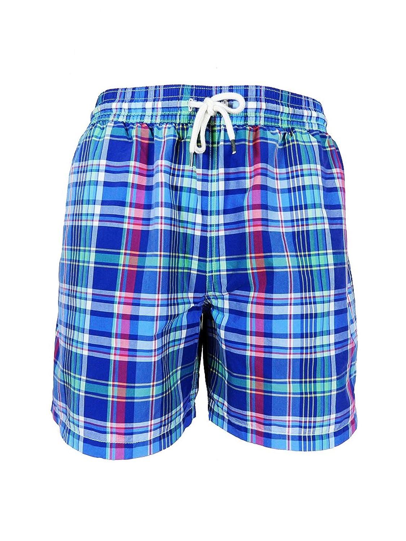 Ralph Lauren 5? - inch Plaid Traveler Swim Trunk Shorts - New Collection