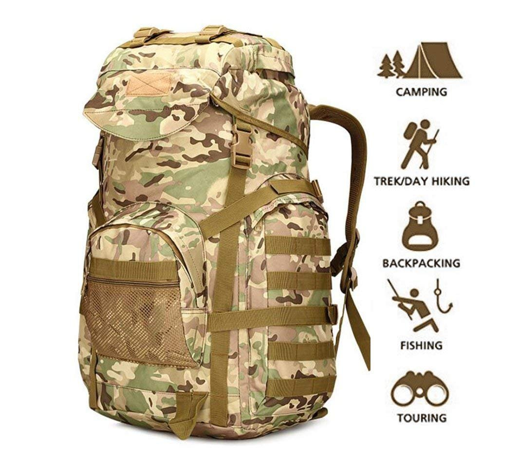 70l Military TacticalバックパックLarge Army 3 Day Assault Pack MOLLEバックパックリュックサックアウトドアハイキングキャンプトレッキングHunting  Camouflage1 B07848ZTN5