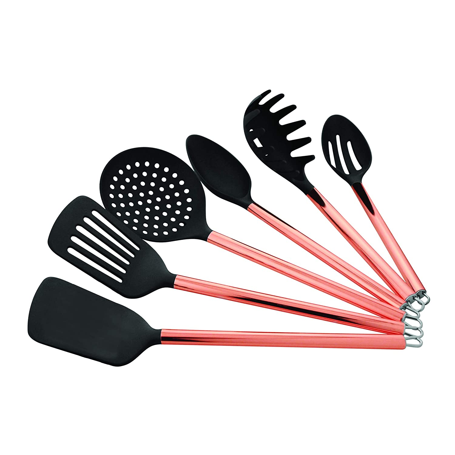 Stainless Steel Old Dutch International Copper Set Kitchen Tools /& Caddy Rose Gold Old Dutch 1512 15 Pc Black