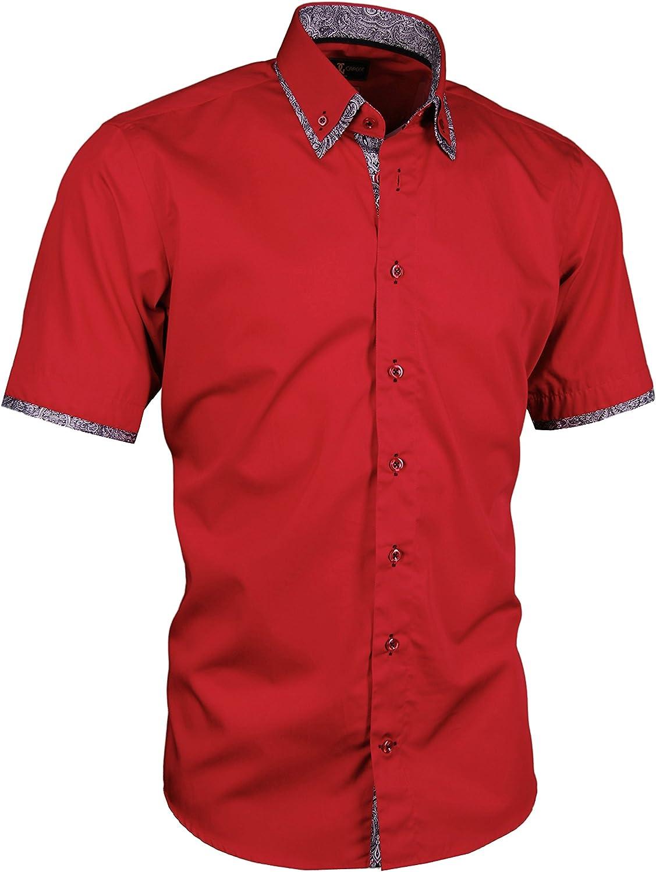 Giorgio Capone Camicia da Uomo Premium 100/% Cotone Slim//Normal Fit e Regular-Plus Fit