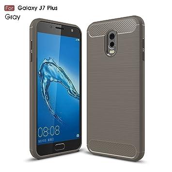 cookaR Funda Samsung Galaxy J7 Plus 2018, Funda Samsung Galaxy J7 Plus 2018 Funda Protectora Ultra Thin Silicona de Silicona Suave para Samsung Galaxy ...