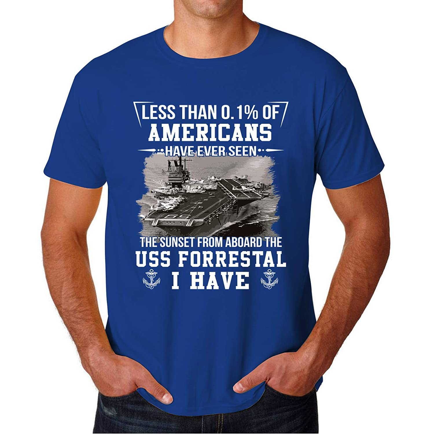 USS Forrestal CV 59 SUNSET Fathers Day Best Gift Ideas for Military Veteran Mens Tee Shirt