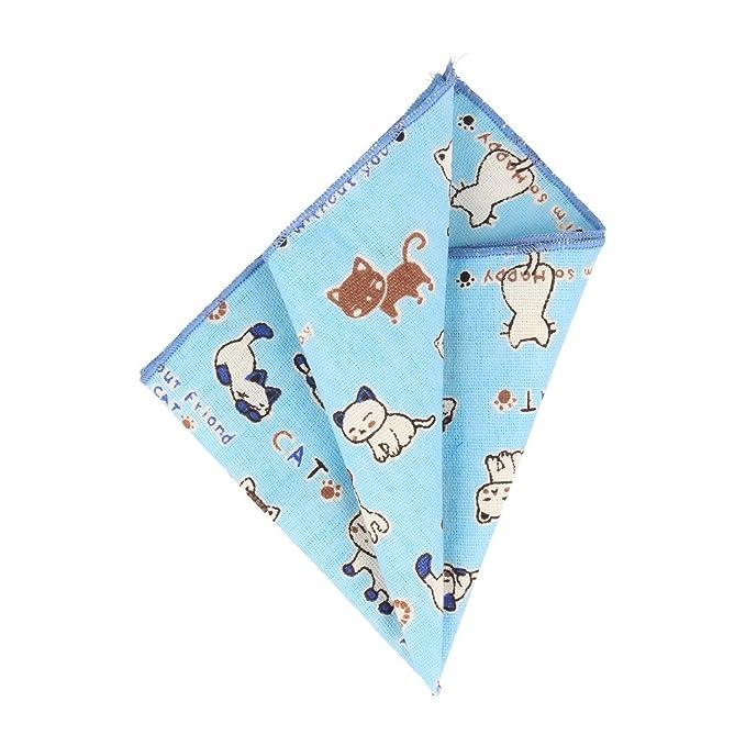 Snobbop pañuelo paño pañuelo de caballero gatos azul claro: Amazon.es: Ropa y accesorios