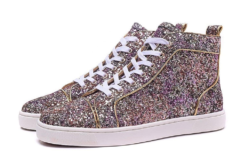 wholesale dealer c427d 5f7bb Sequined Purple Louboutin Women High Sneaker well-wreapped ...