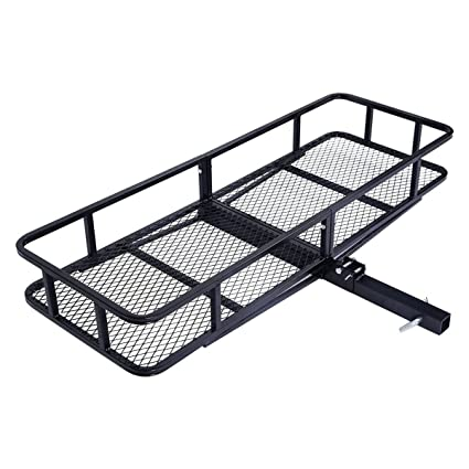 Trailer Hitch Luggage Rack Inspiration Amazon 60 Folding Cargo Carrier Luggage Rack Hauler Truck Or