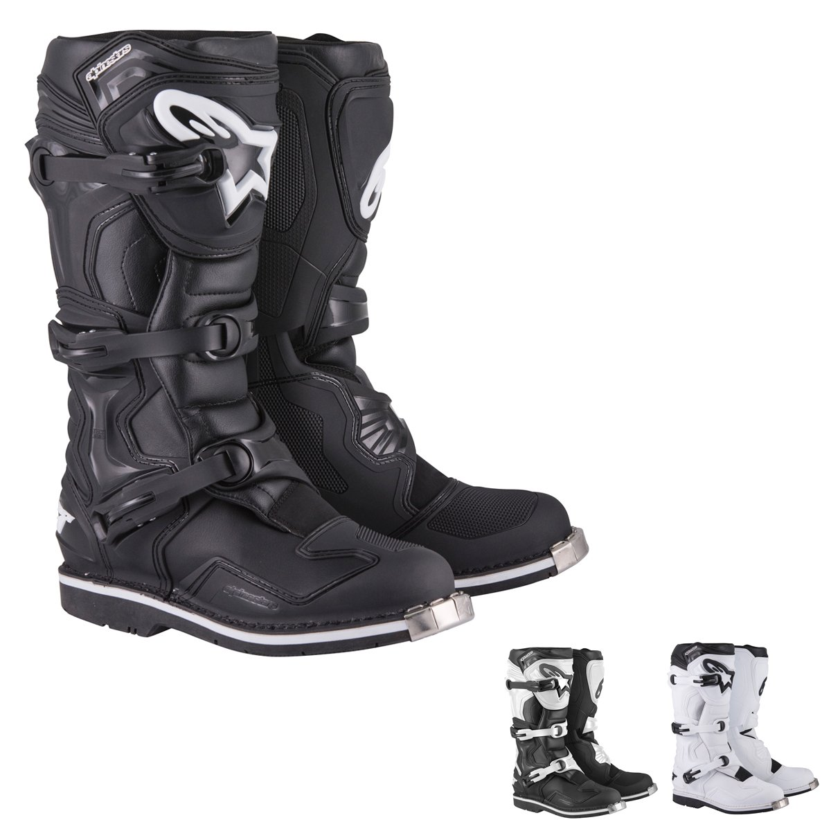 Alpinestars Tech 1 Men's Off-Road Motorcycle Boots - White / 9