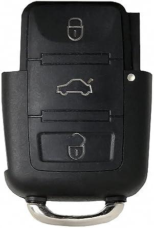 Volkswagen Llave * Volkswagen Carcasa para Llave de 3 Botones * Volkswagen Llave Carcasa Cambiar