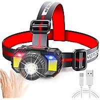 Headlamp Rechargeable,Motion Sensor Head Lamp Flashlight,Ufanore Waterproof LED Headlight with Zoom Function, Head…