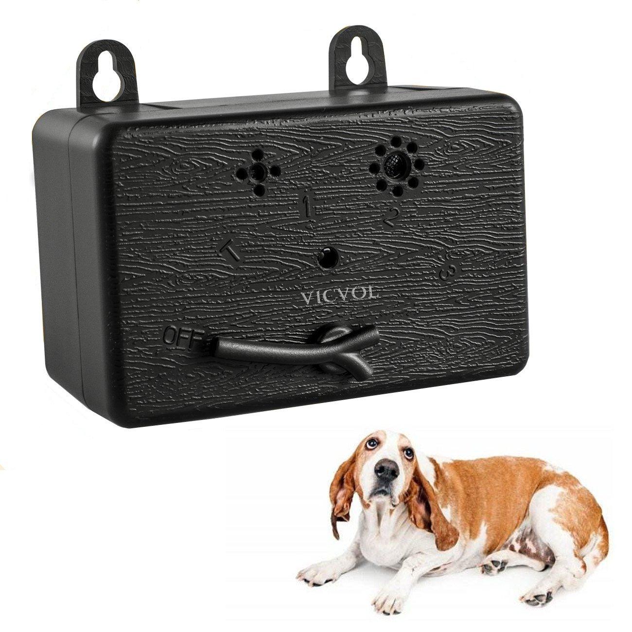 Vicvol Mini Bark Control Device, Outdoor Anti Barking Ultrasonic Dog Bark Control Sonic Bark Deterrents Silencer Stop Barking Bark Stop Repeller, No Bark Tool (A)