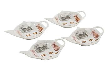 4 pieza para bolsas de té estante soporte para bolsa de té ...