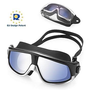 e9ff63c62d KATELUO Gafas de Natación,Protección UV Antiniebla Gafas de nado  Impermeable y Vista Clara Gafas para Nadar,Unisex Adulto,Niños 12 años+  (Negro): Amazon.es: ...