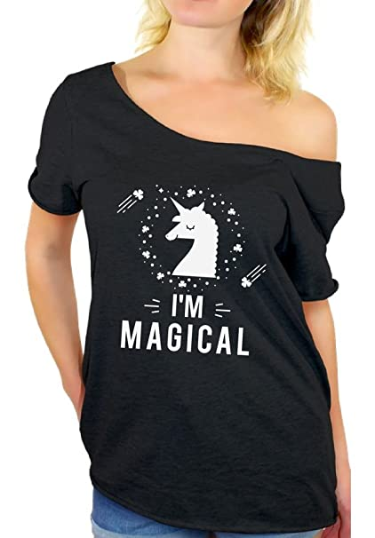 2e949ae8 Awkward Styles I'm Magical Off Shoulder Shirt for Women Unicorn Shirts for  Her Black