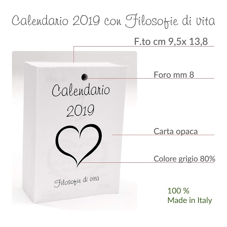 Calendario Per La Vita.Small Calendario 2019 Con Filosofie Di Vita Ricambio Cm 9 5 X 13 8