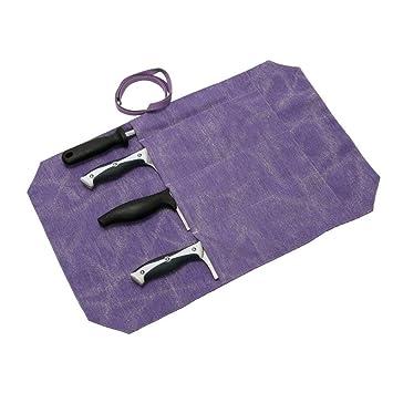 Bolsa para cuchillos de chef con 4 ranuras, ideal para ...