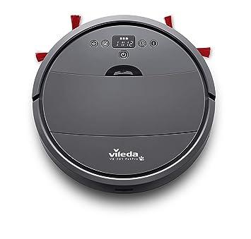 Vileda VR 201 PetPro - Robot aspirador, depósito de suciedad XL, cepillo especial para