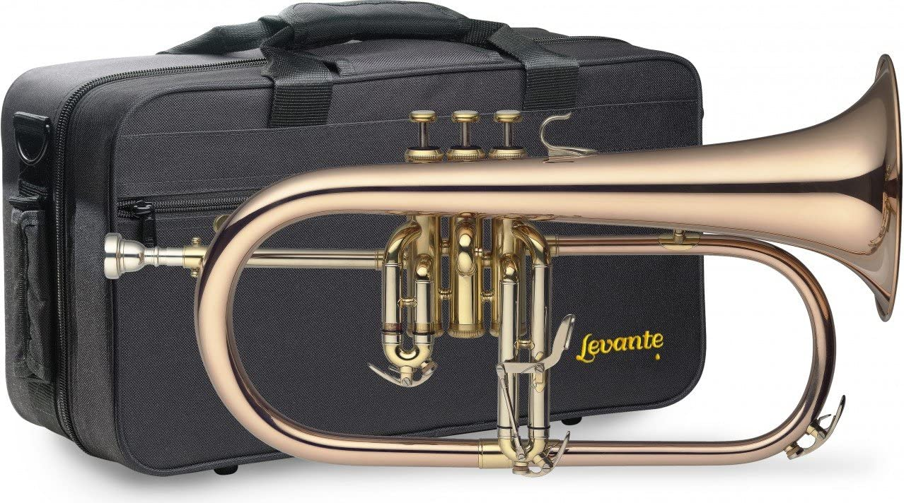 Levante LV-FH6205 Bb Professional Flugelhorn with Soft Case: Musical Instruments