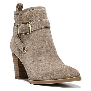 Franco Sarto Women's Delancy Ankle Boot,New Mushroom Velour Suede,US 13 M
