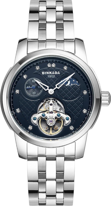 BINKADAファンキー自動機械ブラックダイヤルメンズ腕時計# 800301 – 2 B014WLC8D4