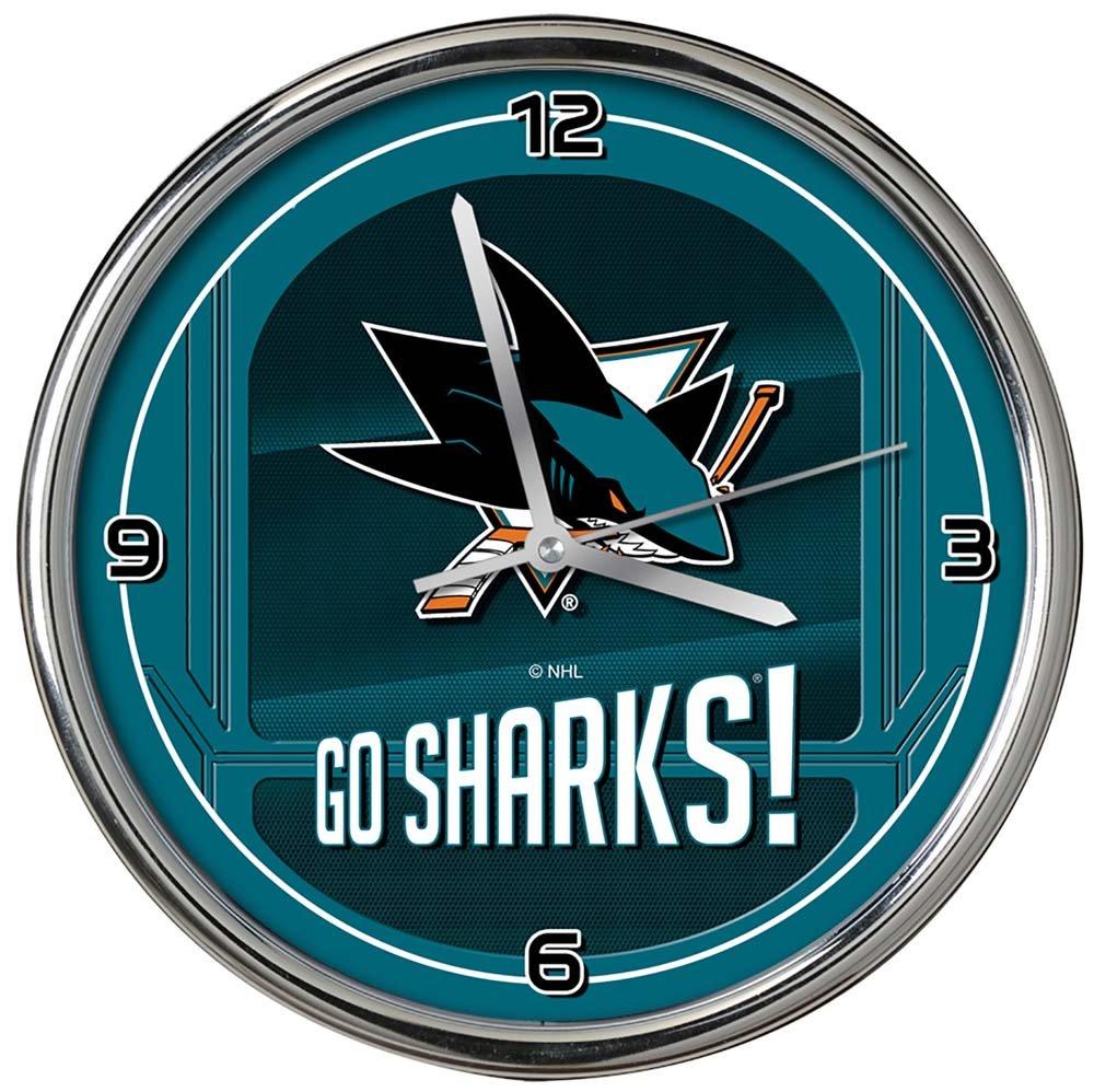 The Memory Company NHL San Jose Sharks Go Team One Size Multicolor Chrome Clock
