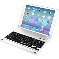 Arteck Ultra-Thin Apple iPad Air 2/9.7-inch iPad Pro Bluetooth Keyboard Folio Case Cover with Built-in Stand Groove for…