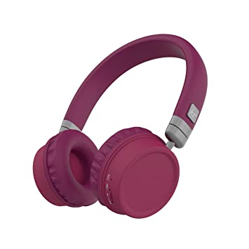 KitSound Harlem Wireless Over-Ear Headphones with Microphone Diadema Binaural Inalámbrico Púrpura: Amazon.es: Electrónica