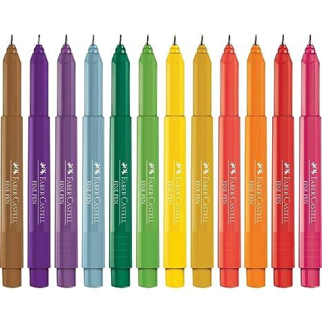 38a3af396 Caneta Fine Pen Promo com 12 Cores