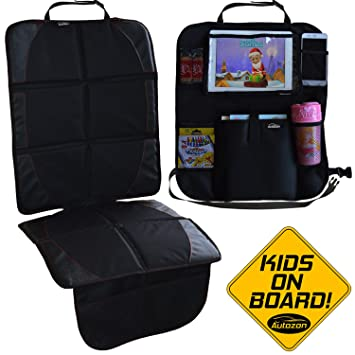 Autozon Car Seat Protector And Organizer For Child Baby Waterproof Auto Seats Cover