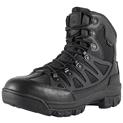 4385174bfbd95 FREE SOLDIER Men's Outdoor Military Tactical Ankle Boots Ultra Combat Mid  Hiking Boot(Black +