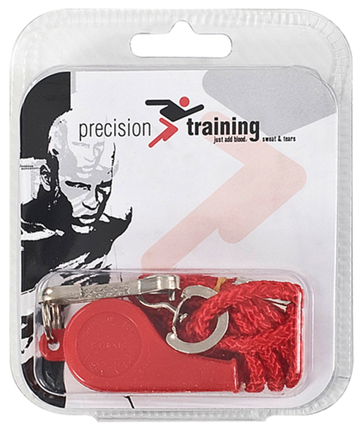 Precision Training Soccer Sports Referee Accessory Plastic Whistle & Lanyard