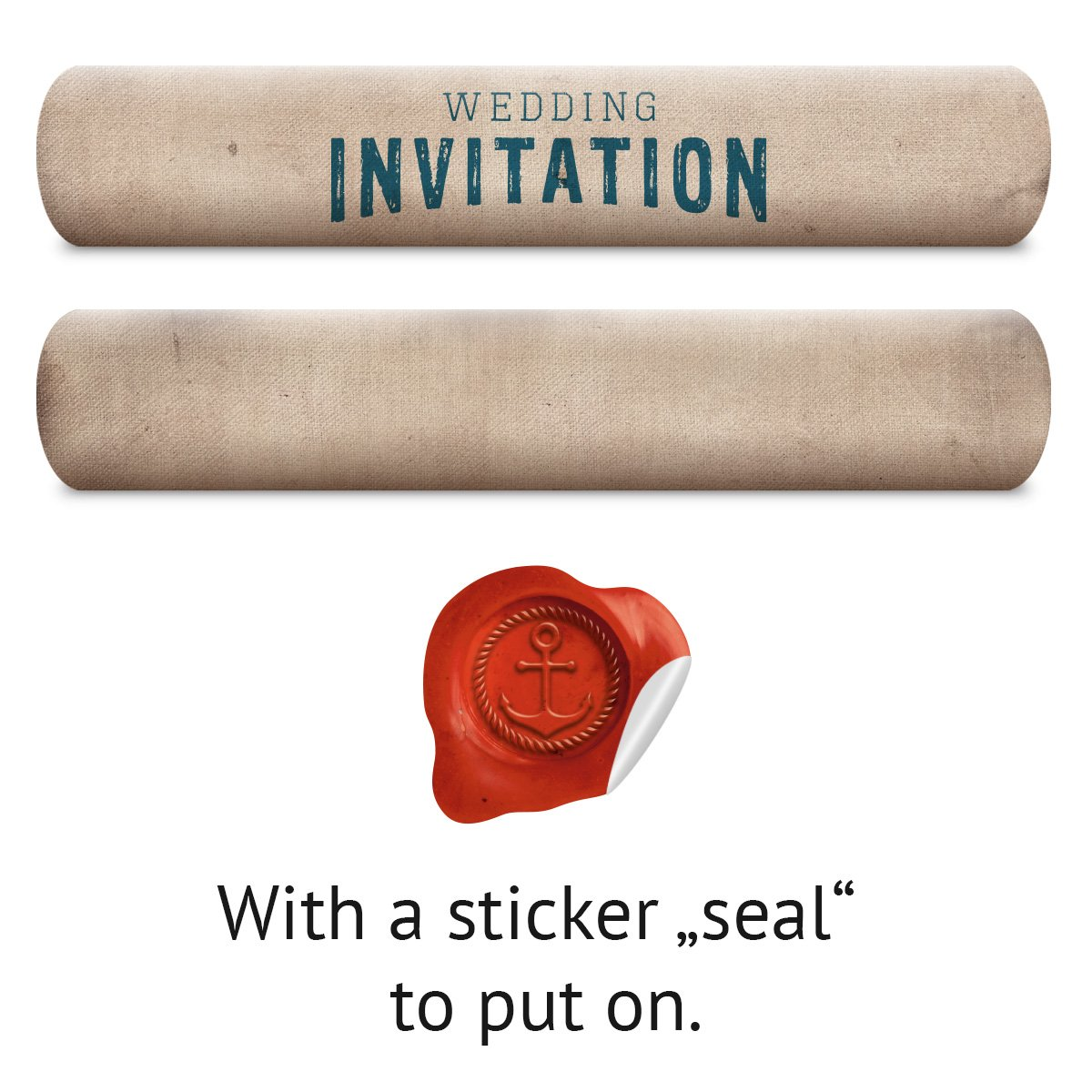 100 x Wedding Invitation Cards Invites A5 - Message in a Bottle as a ...