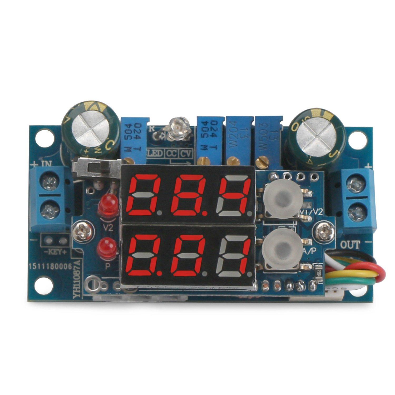 5A Buck Converter, DROK Voltage Regulator Board DC 6-36V Down to 1.25-32V 5A Constant Current Voltage MPPT Solar Controller Module 24v to 12v 5v with LED Display for Charging Battery Car Power Supply by DROK (Image #4)