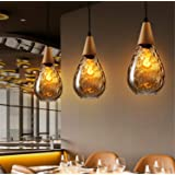 LUCKY CLOVER-A Industrial Style Ceiling Light,Winebottle Lampshade Bakery Hotel Bar Kitchen Cafe Pendant Light…