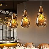 LUCKY CLOVER-A Modern Ceiling Light,LED Bulb Hanging Light Pendant Fixture Lighting Crystal Chandelier,Set of 3pcs