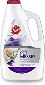 Hoover Deep Clean Max Carpet Shampoo, Concentrated Machine Cleaner Solution for Pets, 120 oz Formula, AH30831, White